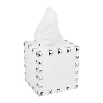 Magnus Tissue Box - White & Silver