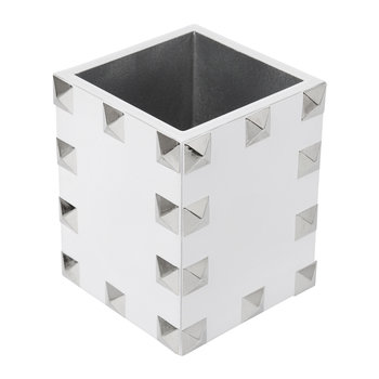 Magnus Brush Holder - White & Silver