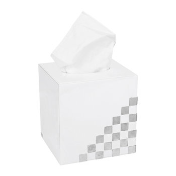 Matrix Tissue Box - White & Silver