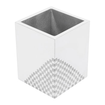 Matrix Brush Holder - White & Silver