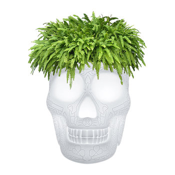 Mexico Skull LED Outdoor Planter
