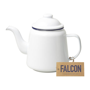 Teapot - Original White with Blue rim