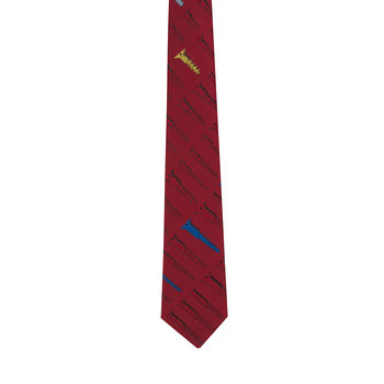 Viti Pointed Tie - Red