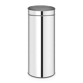 New Touch Bin - 30 Litres - Brilliant Steel