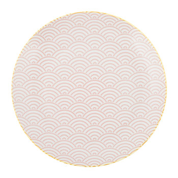 Star Wave Dinner Plate - Large Wave - Pink/Yellow