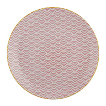 Star Wave Dinner Plate - Small Wave - Pink/Yellow