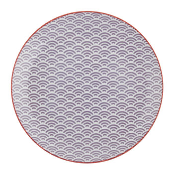 Star Wave Dinner Plate - Small Wave - Purple/Red