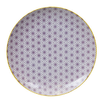 Star Wave Dinner Plate - Star - Purple/Yellow