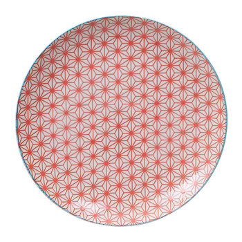 Star Wave Dinner Plate - Star - Red/Light Blue