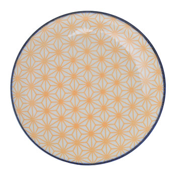 Star Wave Side Plate - Star - Yellow/Blue