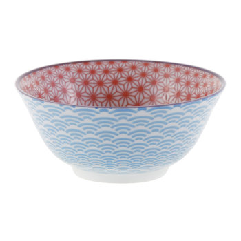 Starwave Bowl - Red/Light Blue