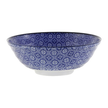 Nippon Blue Serving Bowl - Flower