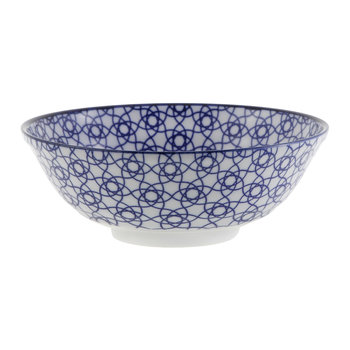 Nippon Blue Serving Bowl - Stripe