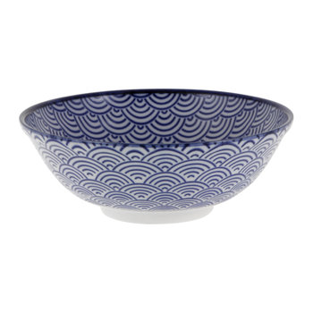 Nippon Blue Serving Bowl - Wave
