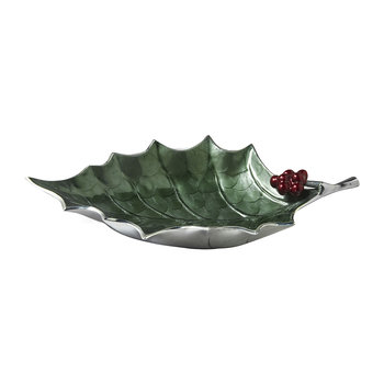 Holly Sprig Bowl - Emerald