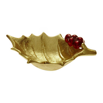 Holly Sprig Bowl - Gold