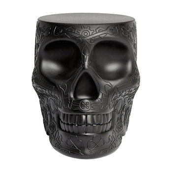 Mexico Skull Stool/Side Table - Black