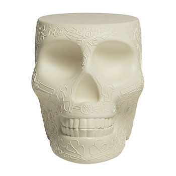 Mexico Skull Stool/Side Table - Ivory