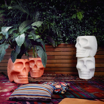 Mexico Skull Small Planter - Terracotta