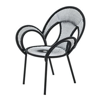 Banjooli Armchair - White/Black