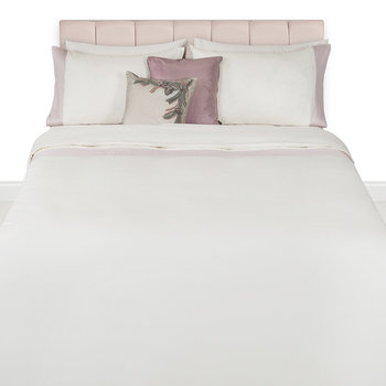 Wellington 300 Thread Count Satin Duvet Set - Cream/Blush