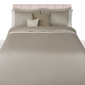 Wellington 300 Thread Count Sateen Duvet Set - Taupe/Cream