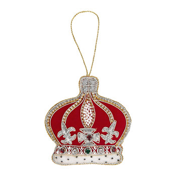 Crystal Red Crown Christmas Tree Decoration