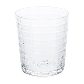 Clear Cuttings Glass Tumblers - Set of 4