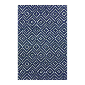 Diamond Rug - Navy/Ivory