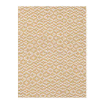 Petit Diamond Rug - Wheat/Ivory