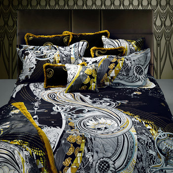 Salome Duvet Set - Black