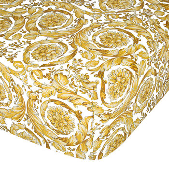 Barocco 14 Fitted Sheet - 200x205cm - White/Gold