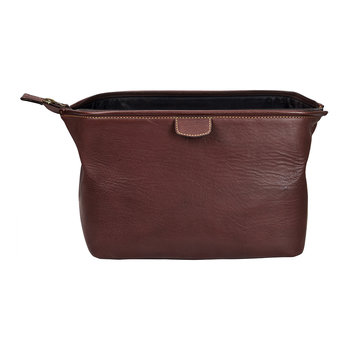 Heritage Wash Bag - Brown