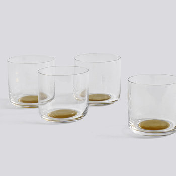 Water Glass - Gold Dot