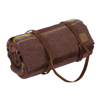Twin Camp Blanket with Carrier - Red Mountain