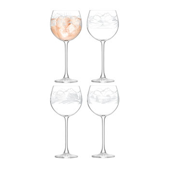 Alpine Balloon Wine Glass - Set of 4 - Assorted