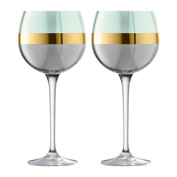 Bangle Balloon Wine Glass - Set of 2 - Melon - Melon