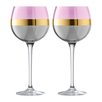 Bangle Balloon Wine Glass - Set of 2 - Rose