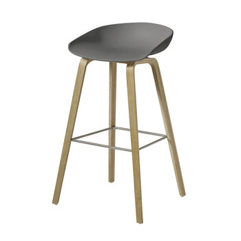 Oak Stool - Matt Grey