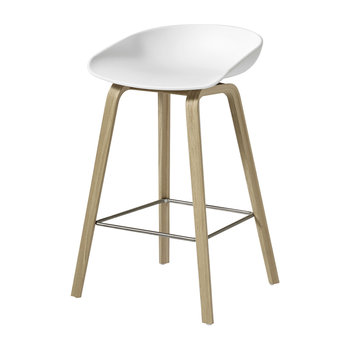 Oak Stool - Matt White