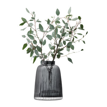 Pleat Vase - Gray