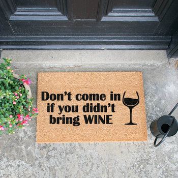 Without Wine Door Mat