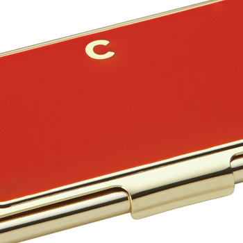 One in a Million Initial Business Card Holder - C (Red)