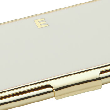 One in a Million Initial Business Card Holder - E (Cream)