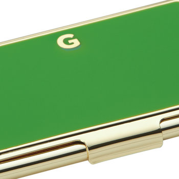 One in a Million Initial Business Card Holder - G (Green)