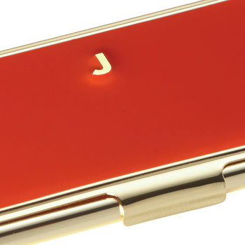 One in a Million Initial Business Card Holder - J (Red)