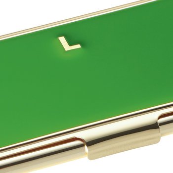 One in a Million Initial Business Card Holder - L (Green)