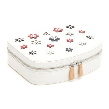 Blossom Travel Jewellery Case - White