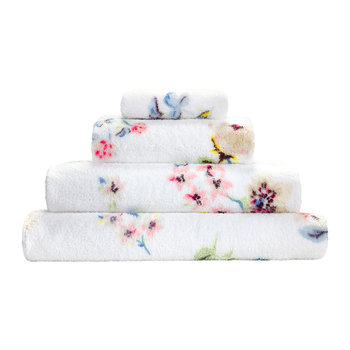 Scattered Pressed Flowers Towel