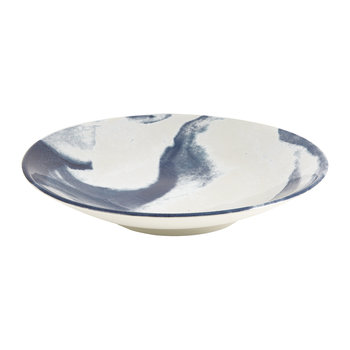 Indigo Storm Serving Bowl - Swirl